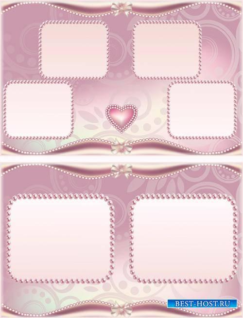 Beautiful photo album with beautiful pink patterns design