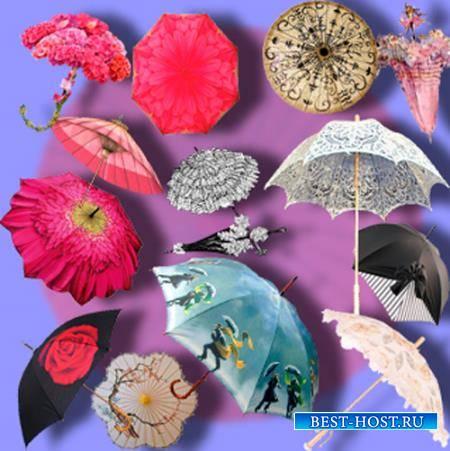 Png клипарты без фона - Летние зонтики