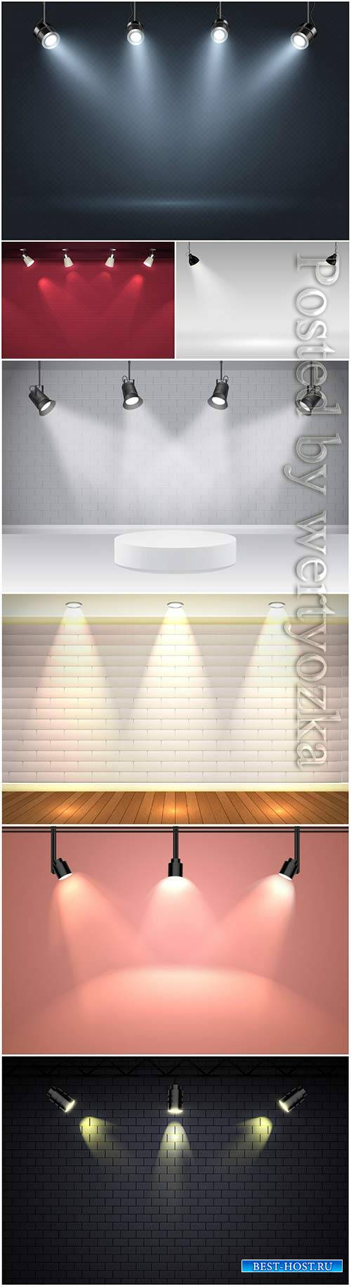 Spot lights background vector illustration