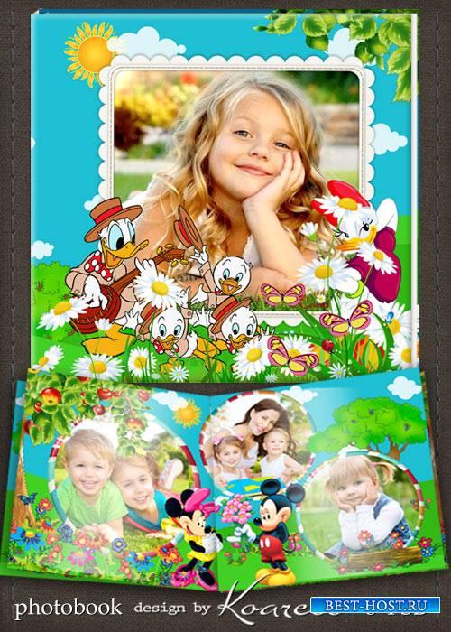 Шаблон фотокниги для детей с героями мультфильмов Диснея