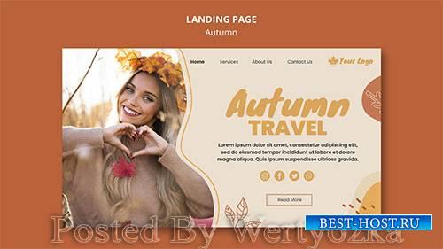 Autumn concept landing page template