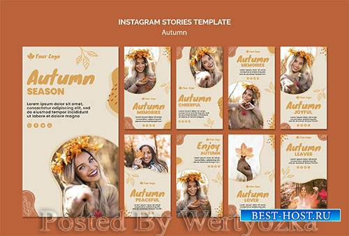 Autumn concept instagram stories template