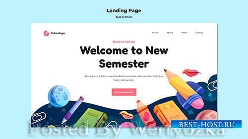 Welcome to new semester landing page