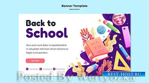 Back to school banner template # 3