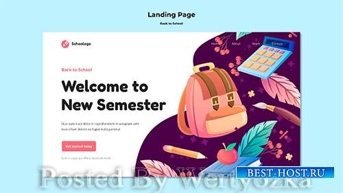 Back to school landing page template # 2