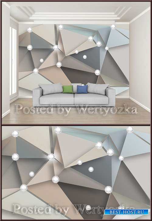 3D psd background wall modern creative mosaic