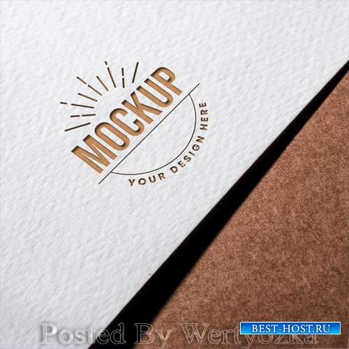 Close-up business card mock-up