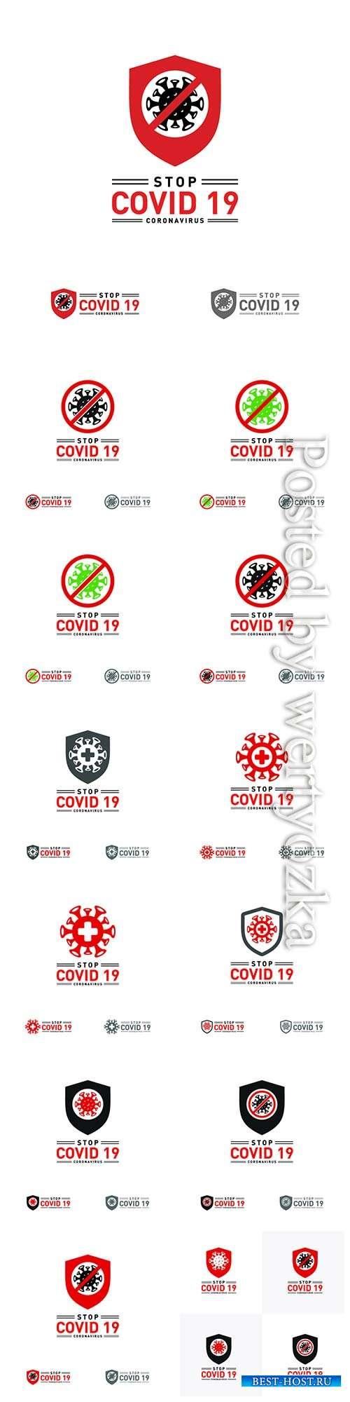 COVID 19, Coranavirus vector illustration sets # 23