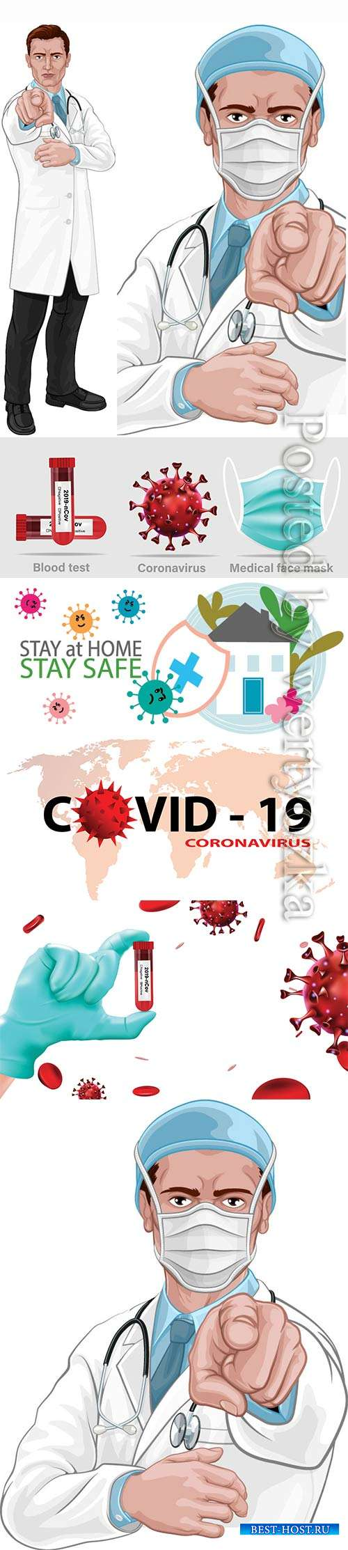 COVID 19, Coranavirus vector illustration sets # 25