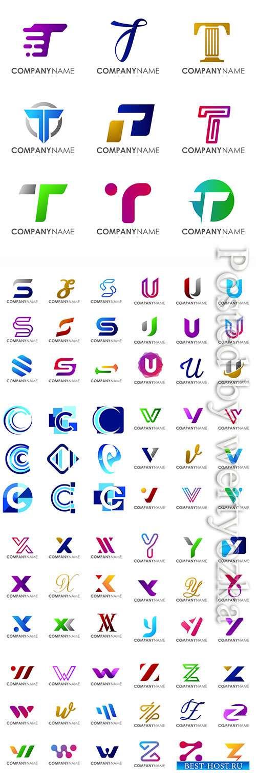 Vector modern logo design alphabet