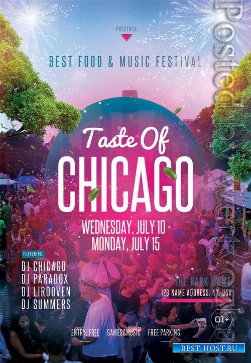 Taste of chicago - Premium flyer psd template