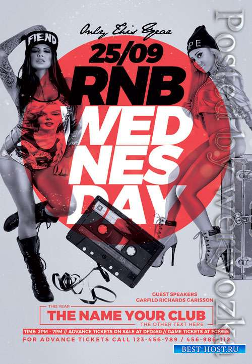 Rnb wednesday - Premium flyer psd template