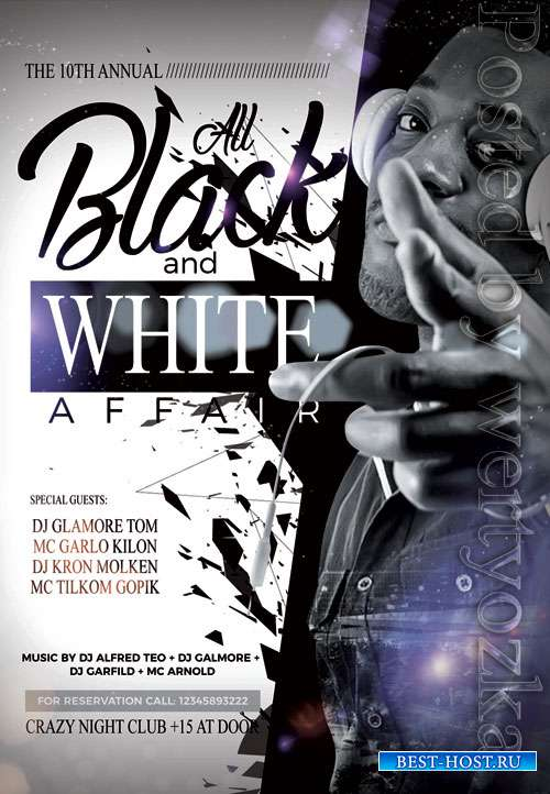Black white affair - Premium flyer psd template
