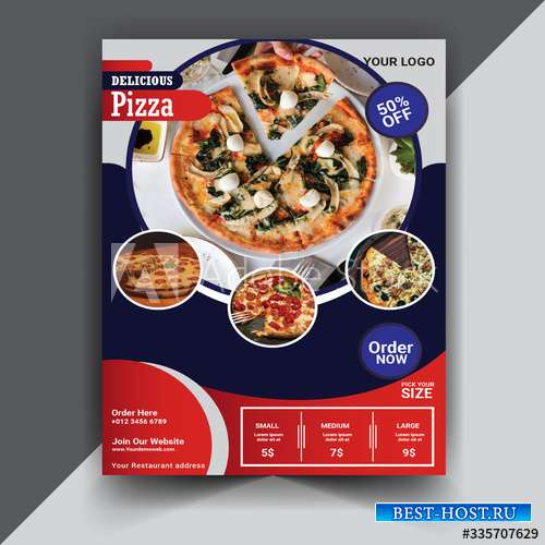 Pizza delivery poster template