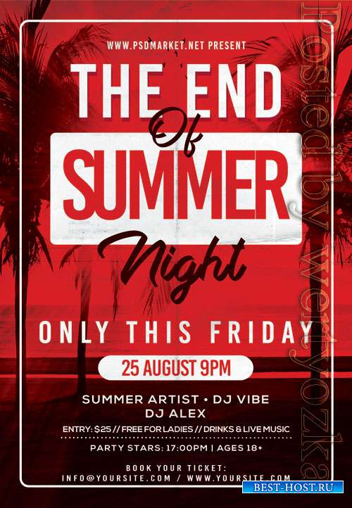 The end of summer night - Premium flyer psd template