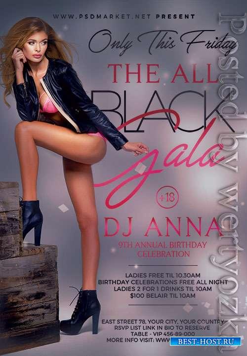 Black gala night - Premium flyer psd template