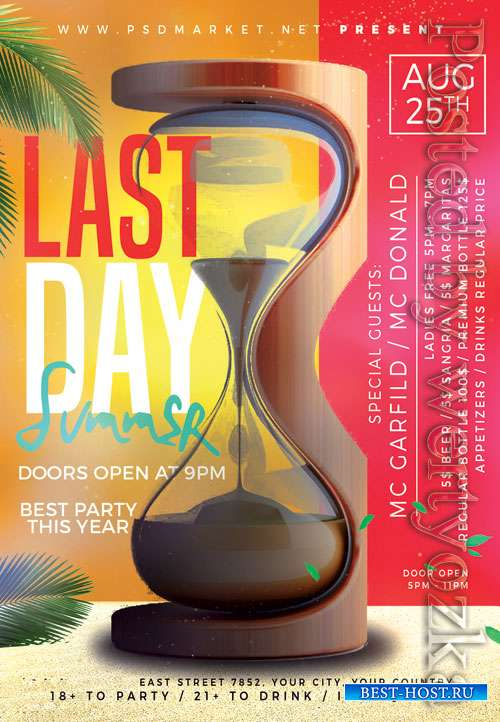 Last day summer - Premium flyer psd template