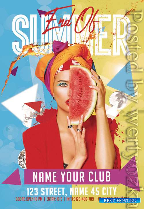 End of summer - Premium flyer psd template