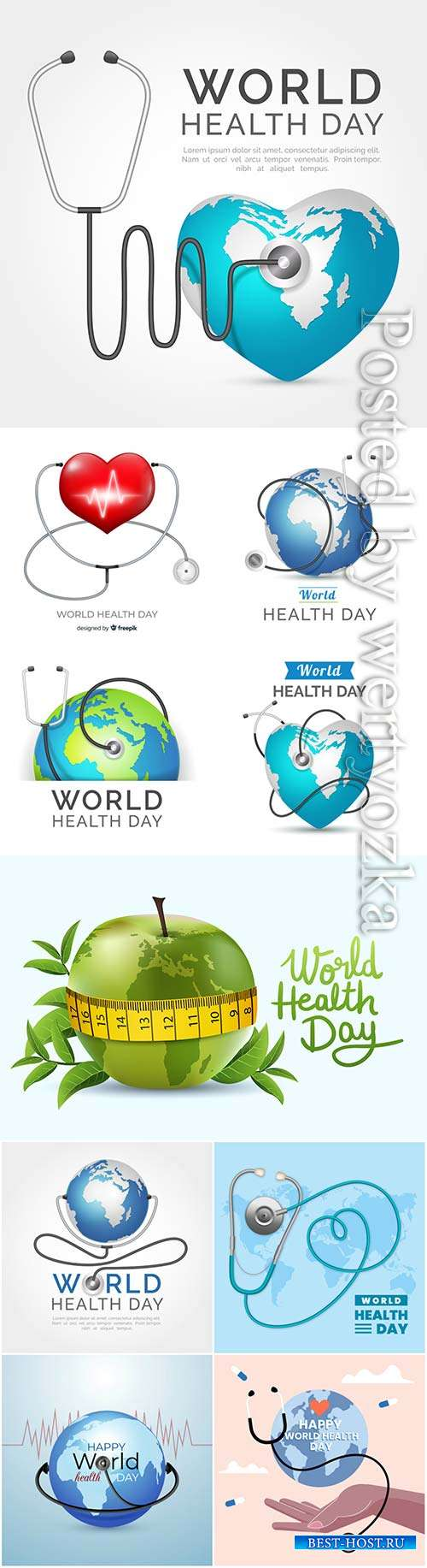 Realistic world health day vector background