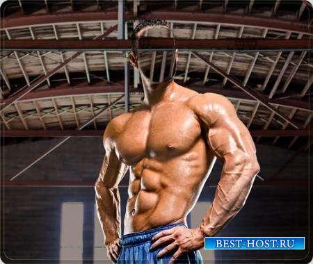 Фотошаблон psd - Тренировка мышц