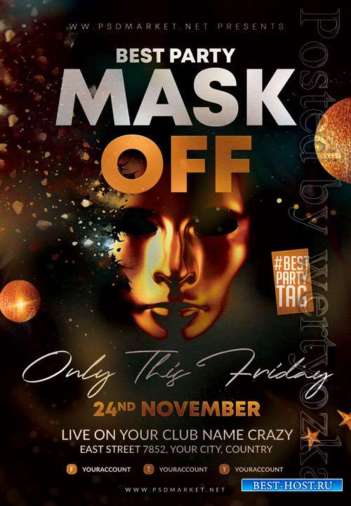Mask off - Premium flyer psd template