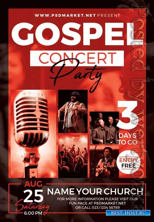Gospel concert party - Premium flyer psd template