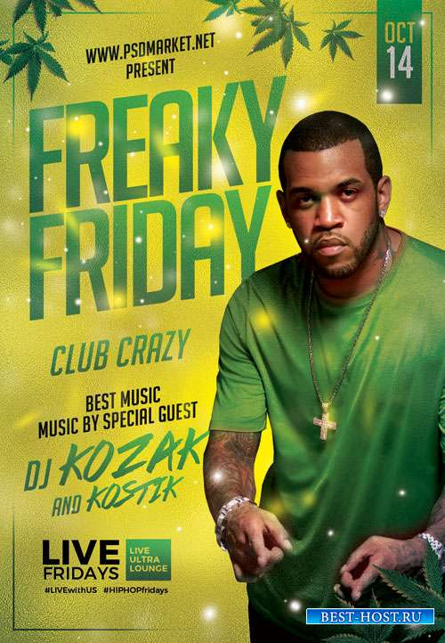 Freaky friday - Premium flyer psd template