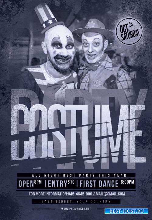 Costume party - Premium flyer psd template