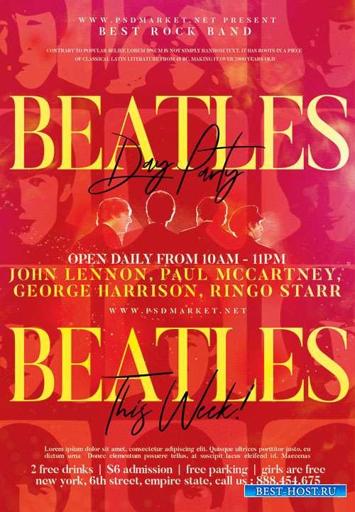 Beatles event party - Premium flyer psd template