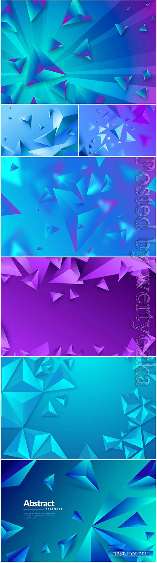 3d vector background with blue and lilac abstract elements