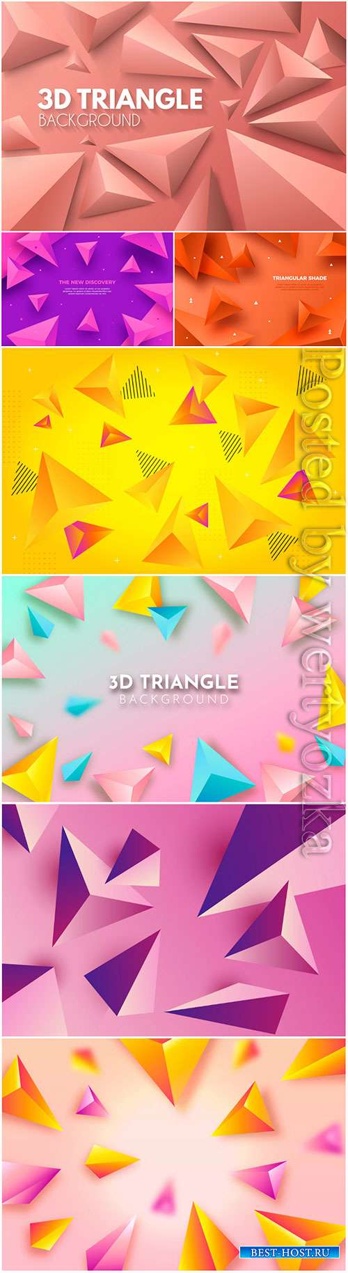 3d background with colorful abstract vector elements