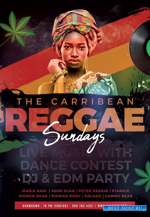 Reggae sunday - Premium flyer psd template