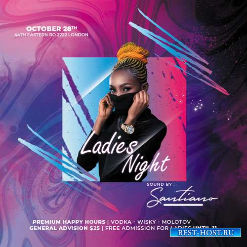 Ladies Event Night - Premium flyer psd template