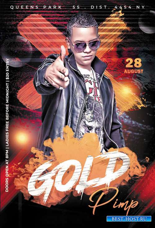 Gold Pimp - Premium flyer psd template