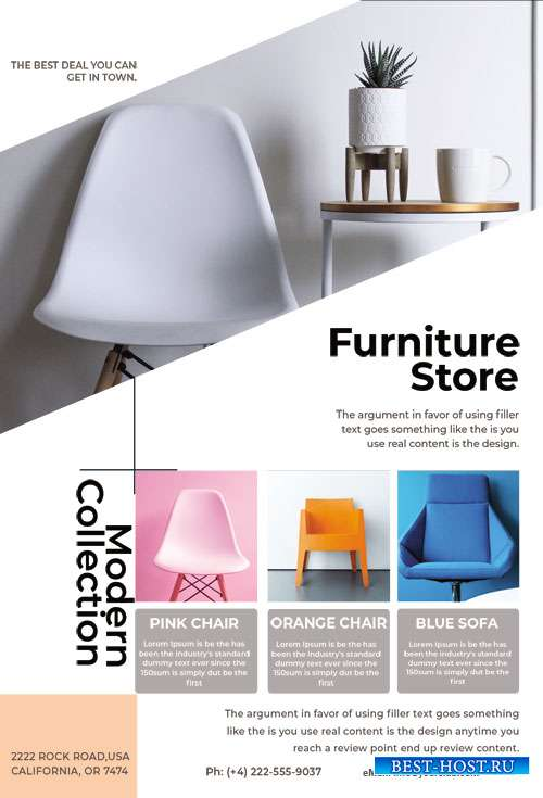 Furniture Store - Premium flyer psd template