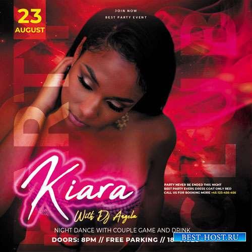 Dj Kiara - Premium flyer psd template