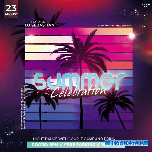 Celebration Summer - Premium flyer psd template