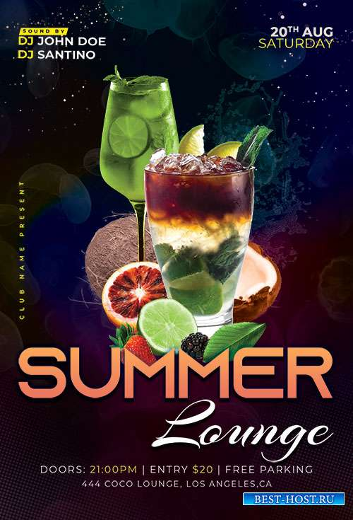 Summer Lounge - Premium flyer psd template
