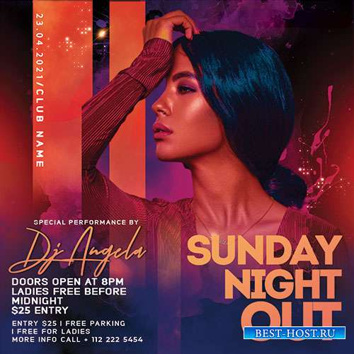 Sunday Night Out - Premium flyer psd template