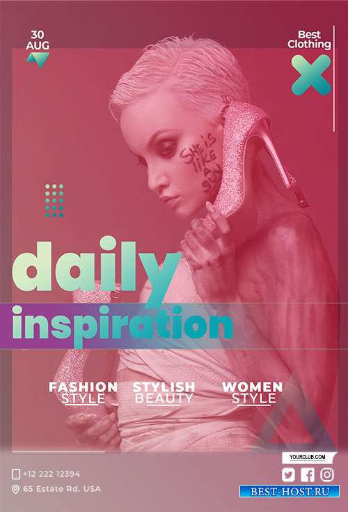 Daily Inspiration - Premium flyer psd template