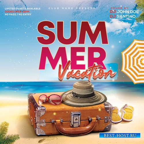 Summer Vacation - Premium flyer psd template