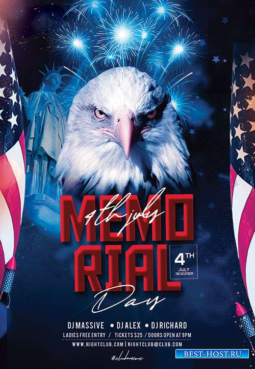 Memorial Day Weekend - Premium flyer psd template