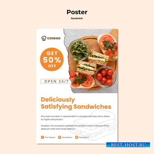 Sandwich concept poster template