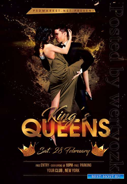 Kings queens event - Premium flyer psd template