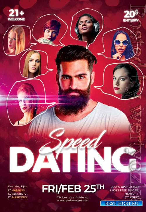 Speed dating time - Premium flyer psd template