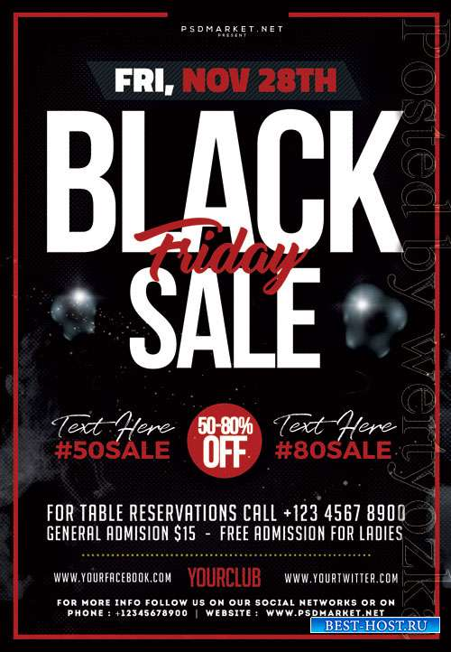 Black friday offer event - Premium flyer psd template