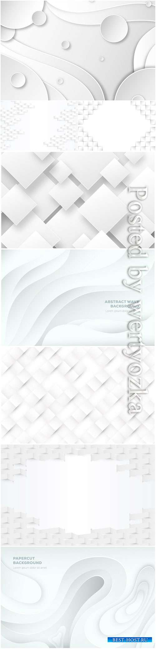 Abstract vector background, 3d models template # 8