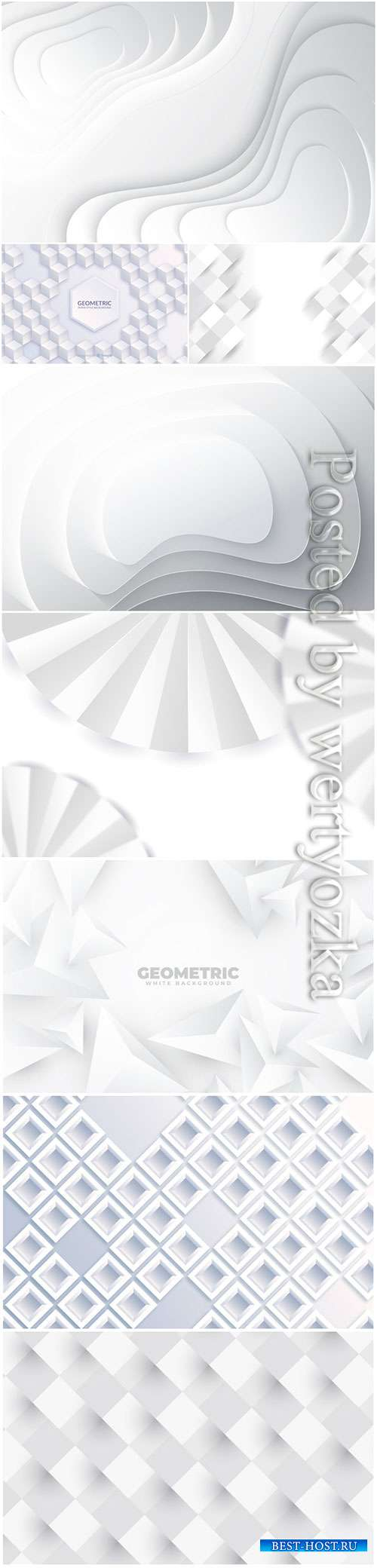 Abstract vector background, 3d models template # 6