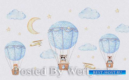 3D models modern minimalistic cartoon parachute children room