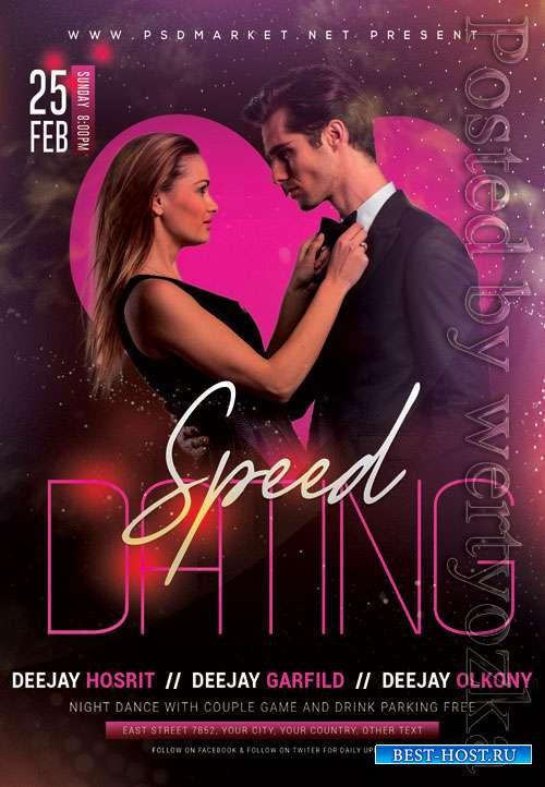 Speed dating event - Premium flyer psd template